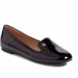 Navy blue Samantha patent leather loafers
